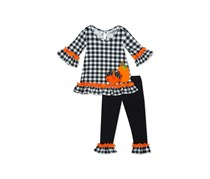 Rare Editions Toddler Girls 2-Pc. Pumpkin Tunic & Leggings Set, Black