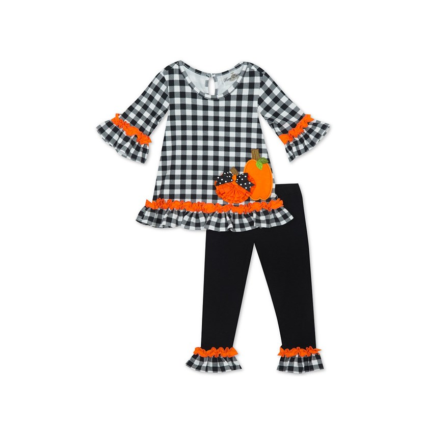 Toddler Girls 2-Pc. Pumpkin Tunic & Leggings Set, Black