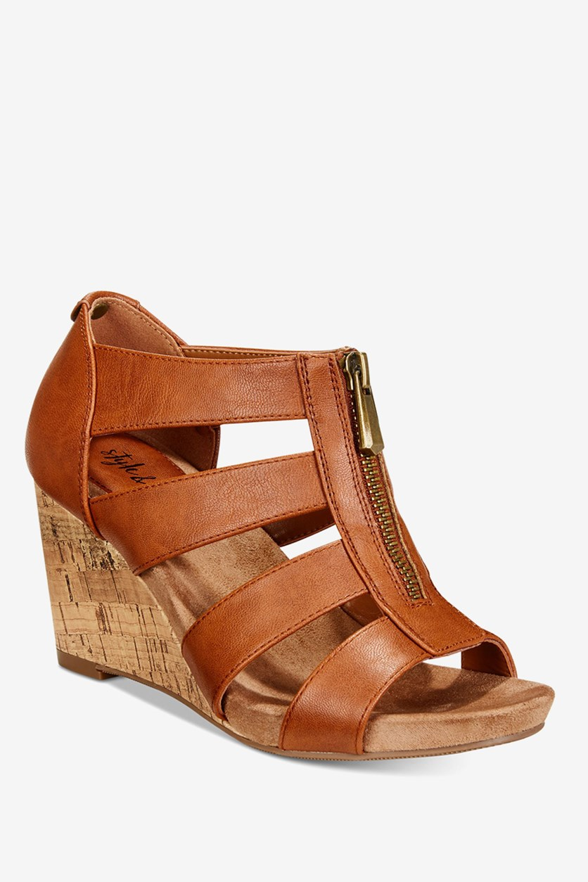 Fettee Platform Wedge Sandals, Coffee