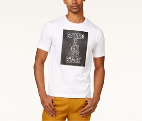 Sean John Men's Graphic-Print T-Shirt, White/Black