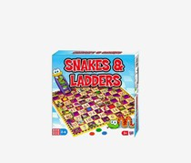 Snakes & Ladders Classic Board Game, Blue/Red Combo