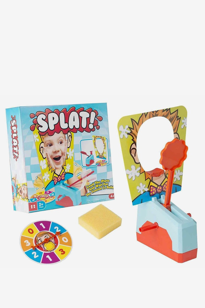 Splat Activity Game Pie Face Children Family Fun 4 Player Toy Set, Blue Combo