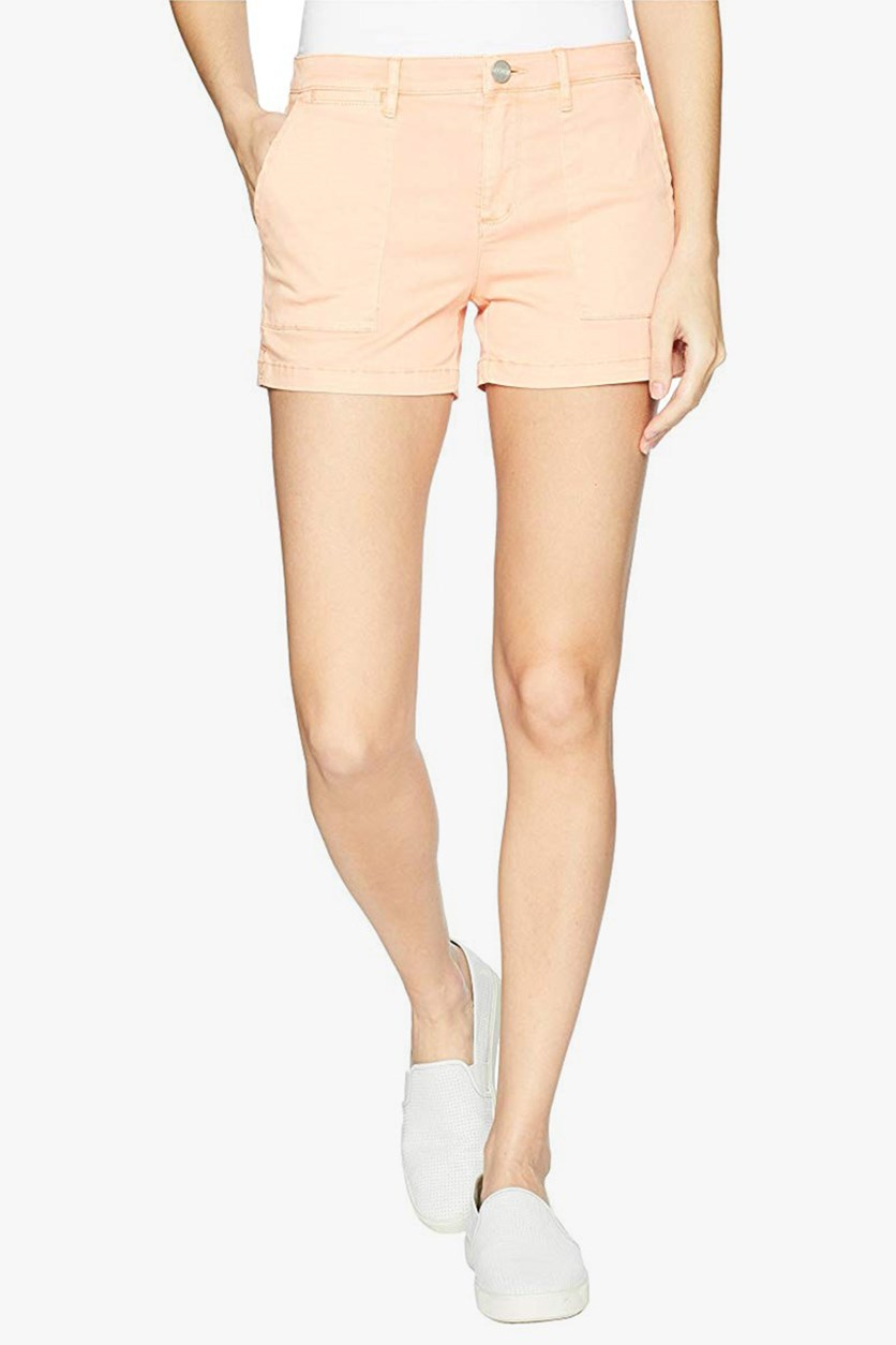 Women's Field Shorts, Washed Papaya