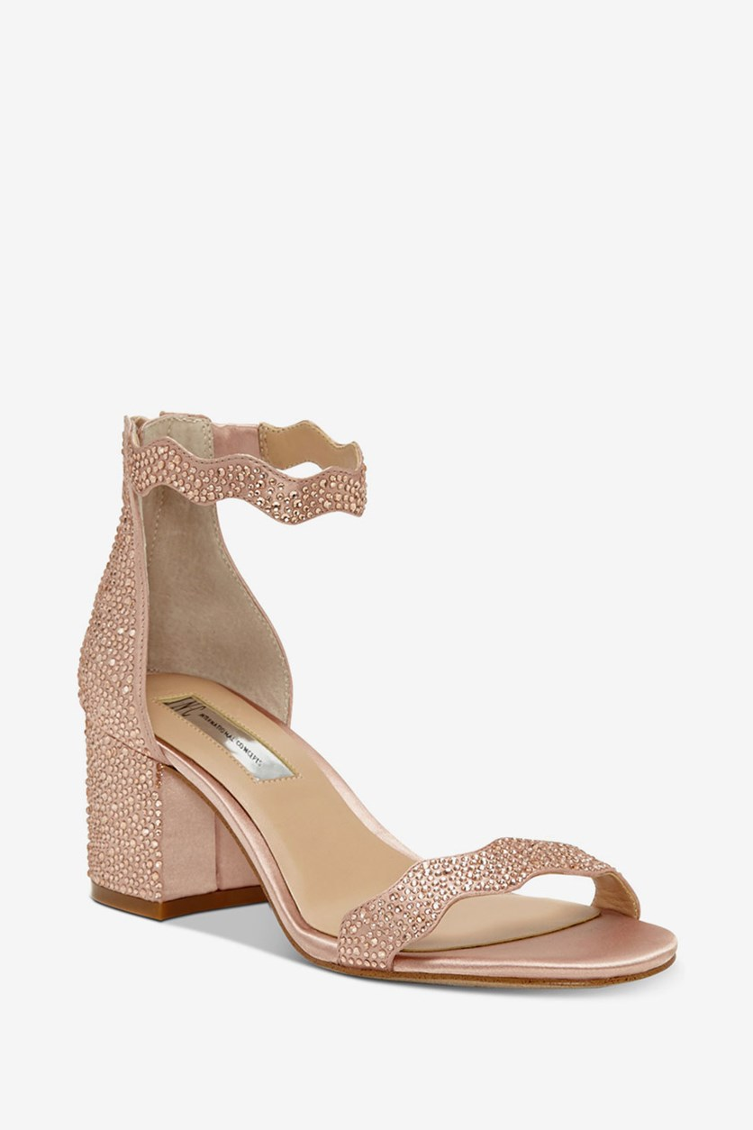 Women's Hadwin Scallop Block-Heel Sandals, New Blush