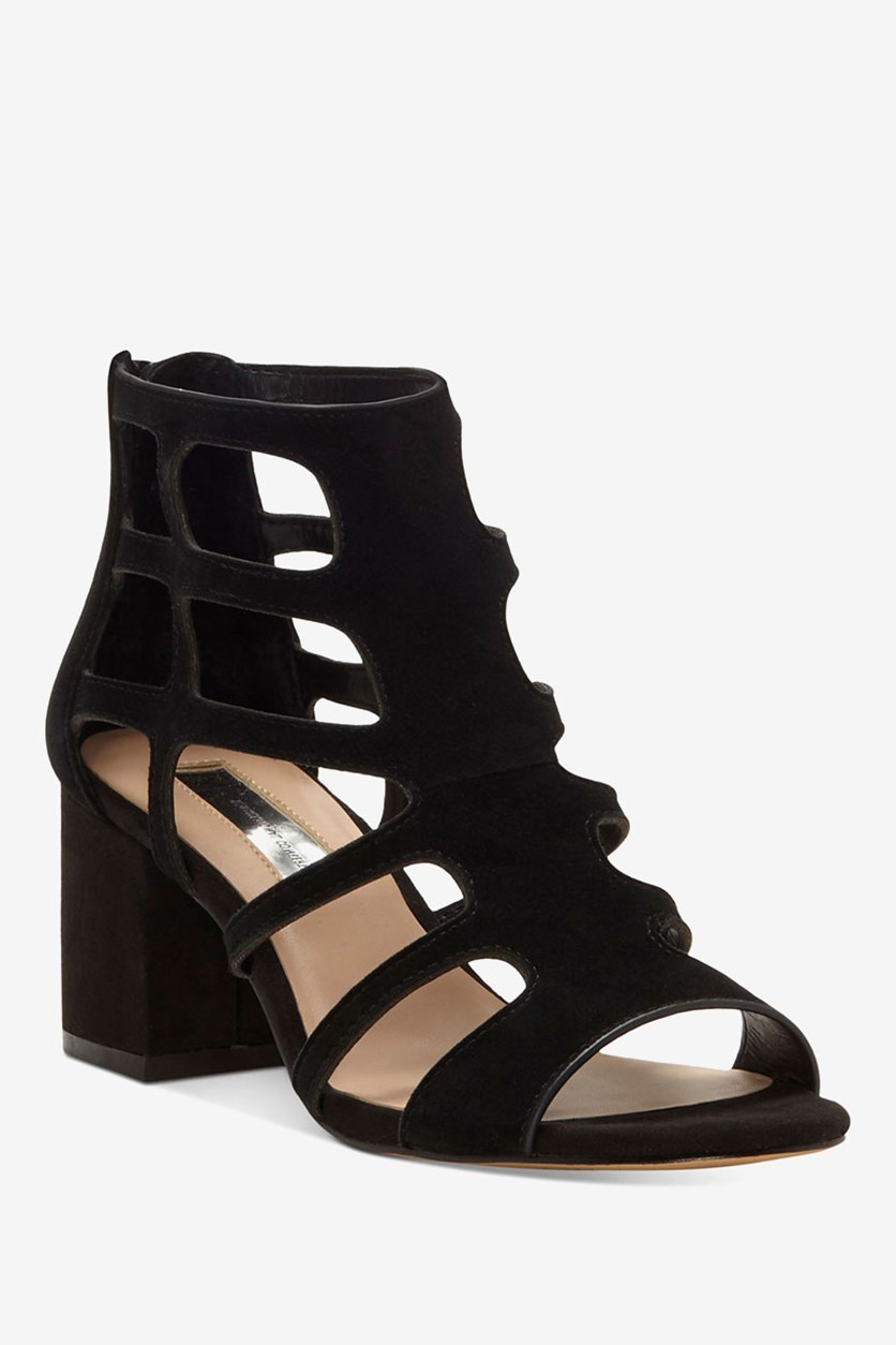 International Concepts Womens Hartley Caged Sandals, Black