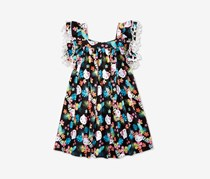 Hello Kitty Little Girls Tassel-Trim Dress, Black