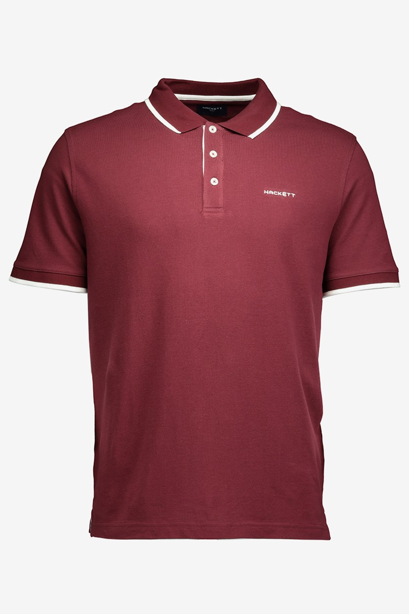 Men's Cotton Piquet Polo, Cabernet
