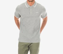 Hackett Men's Cotton Piquet Polo, Metal Heather