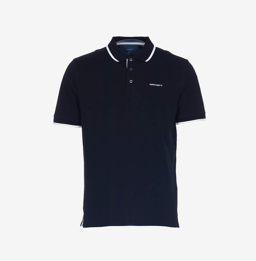 Cotton Piquet Polo, Black