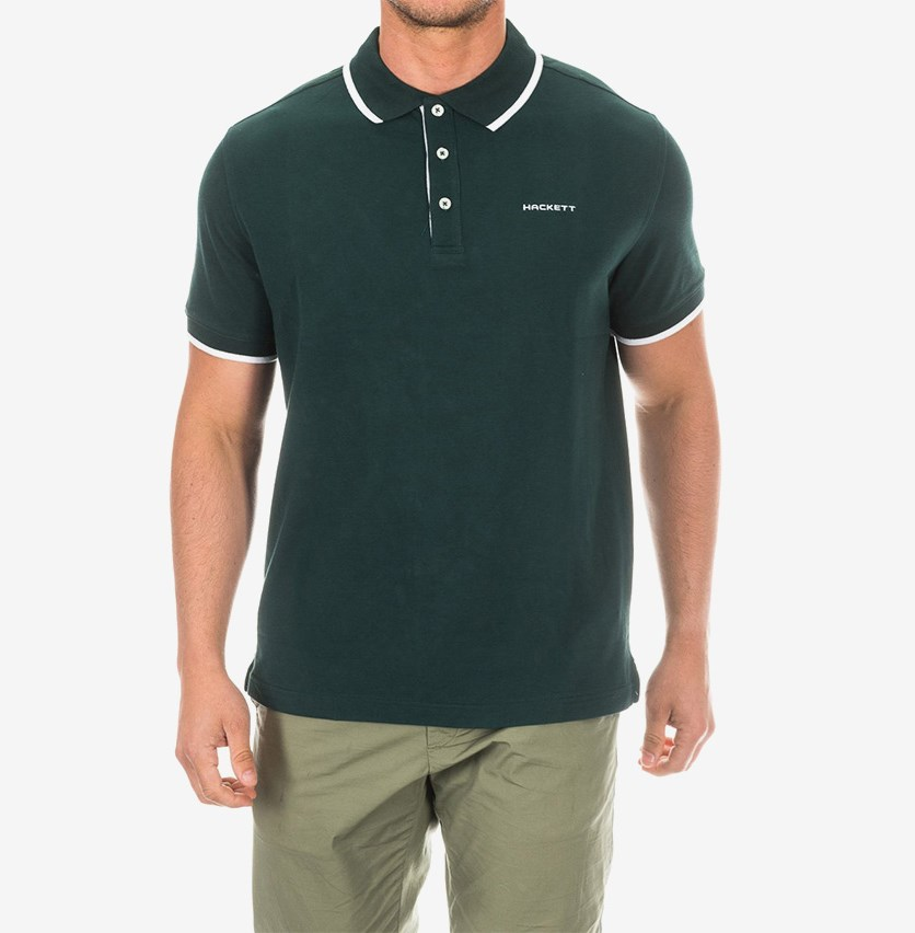 Men's Cotton Pique Polo, Dark Green