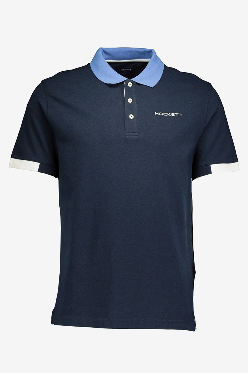 Mens Cotton Pique Polo, Atlantic