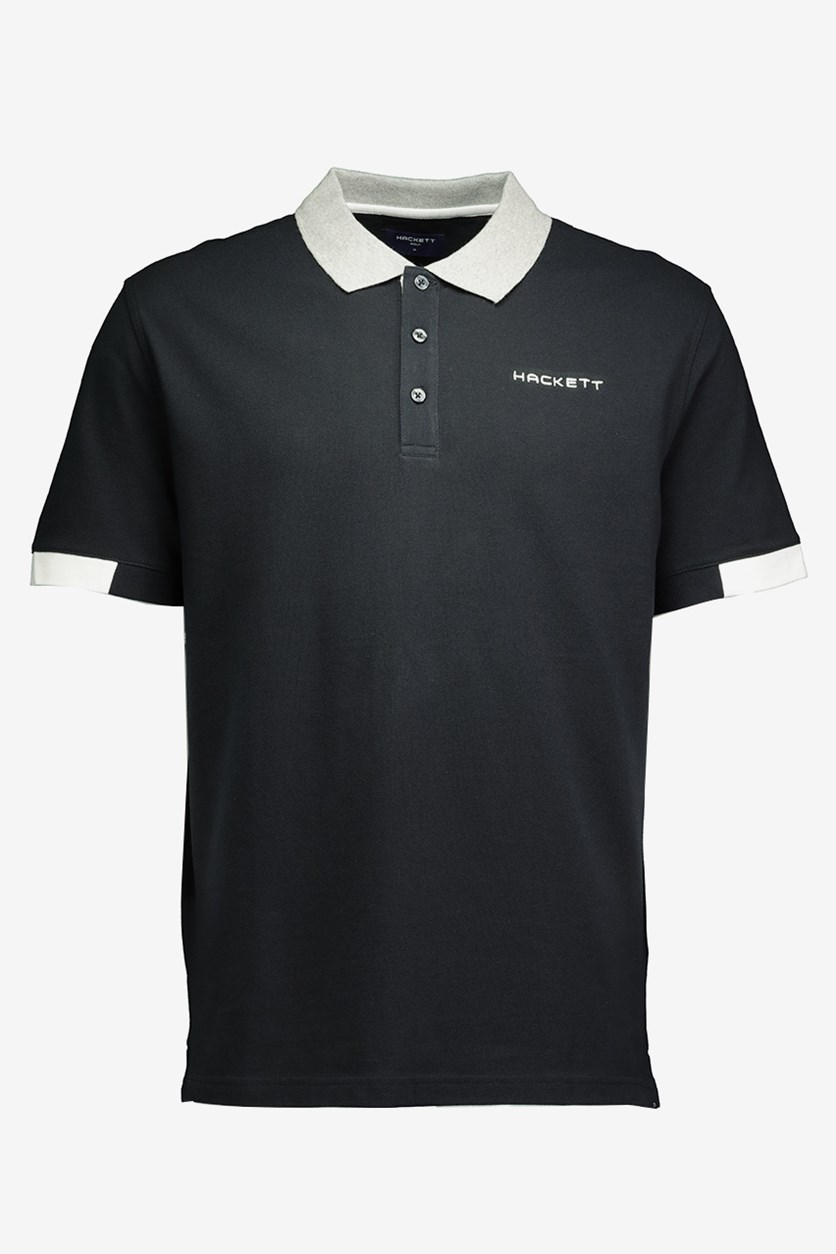 Men's Cotton Pique Polo, Black