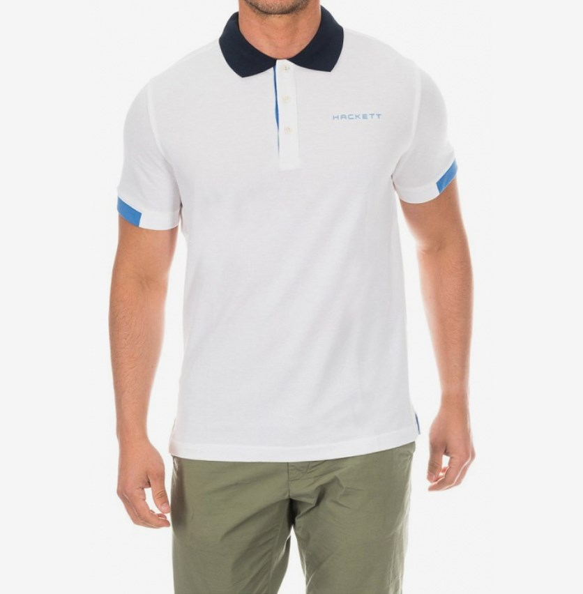 Mens Cotton Pique Polo, White