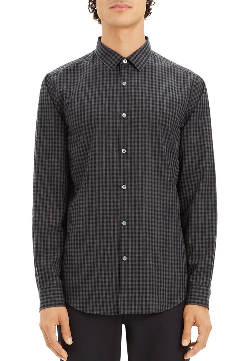 Men's Gingham Print, Black