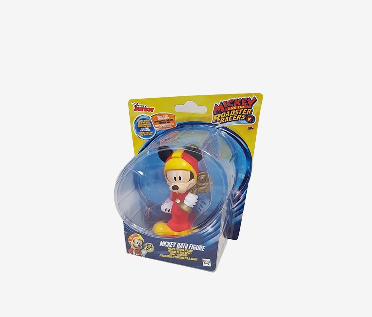 Roadster Racer Mickey Mouse Bath Figure, Red