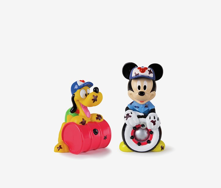 Mickey and Pluto Magic Bath Set, Red/Blue/Yellow Combo