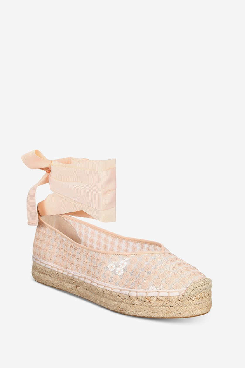 Women's Georgie Tie-Up Espadrille Flats, Pink
