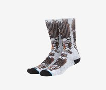 Stance Men's Grosso Socks, Gray/Black Combo