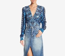 Free People Wild And Free Printed Tops, Blue