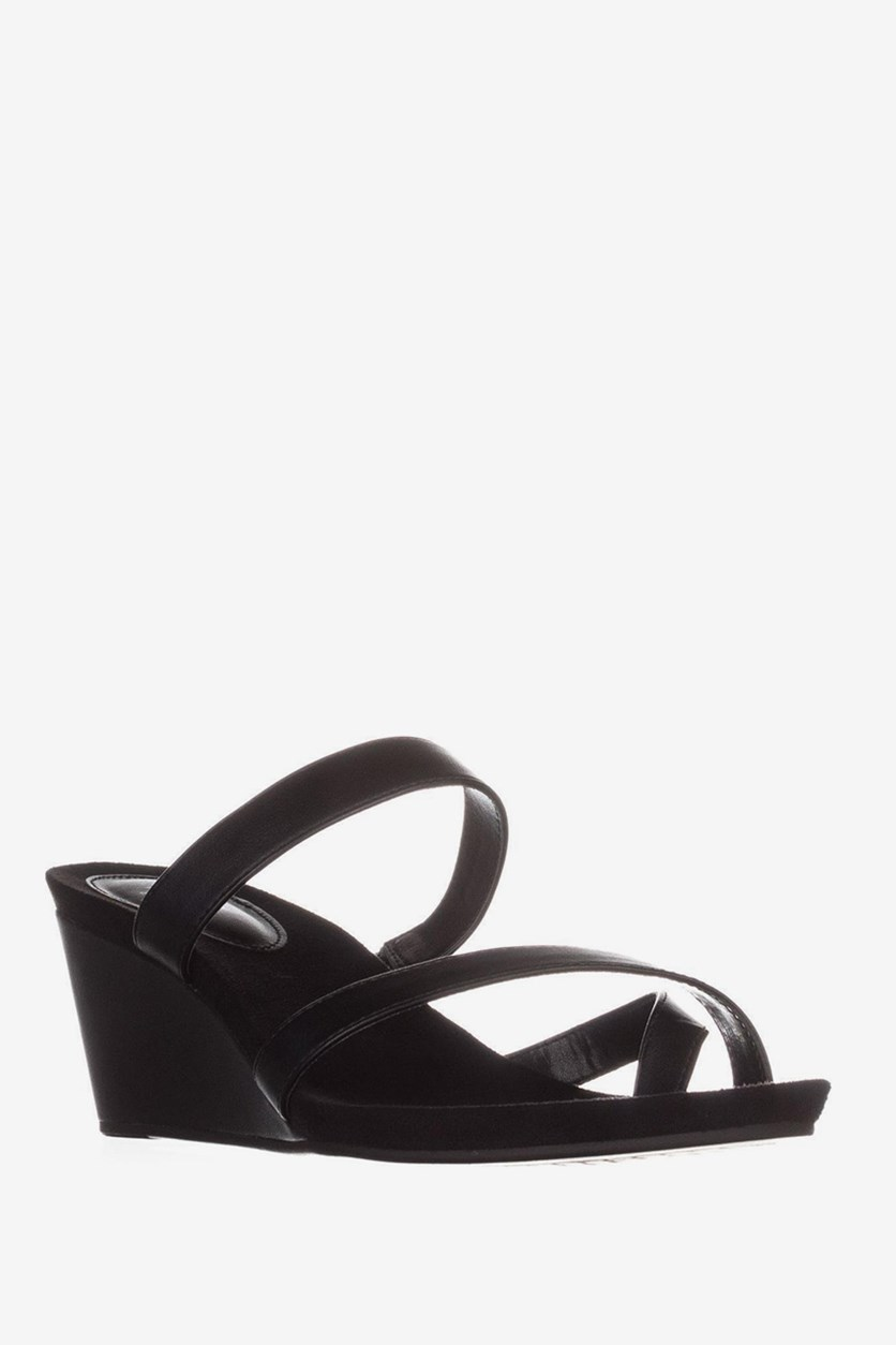 . Madelaa Slip-On Wedge Sandals, Black