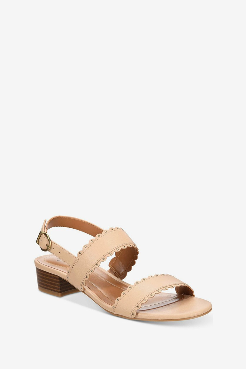 Style Co Martinee Block-Heel Sandals, Neutral