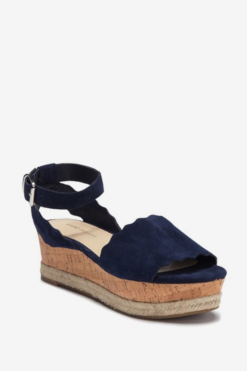 Women's Faitful Platform Wedge Sandal, Dark Blue