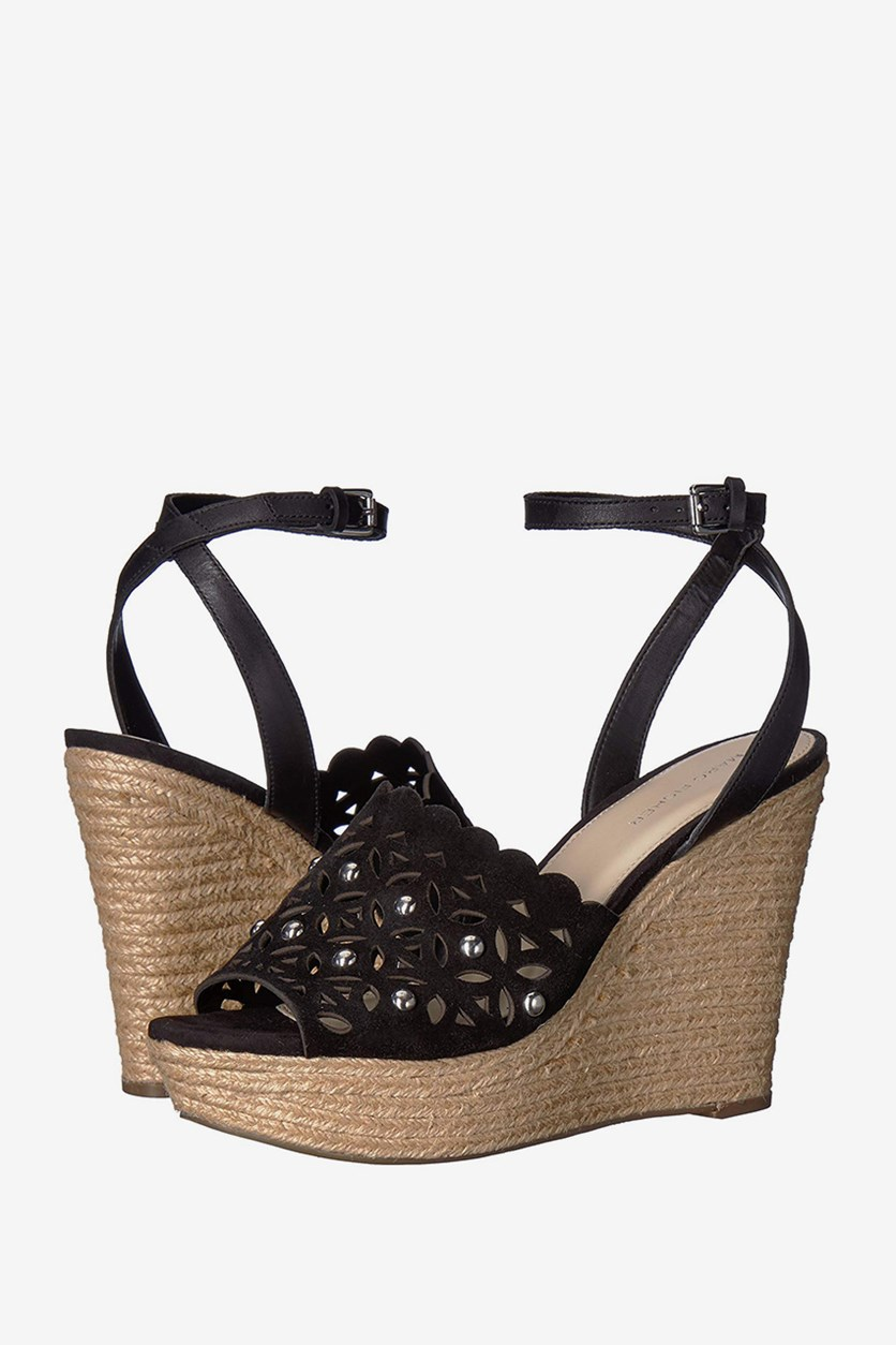 Marc Fisher Women's Hata Sandal Wedges, Black