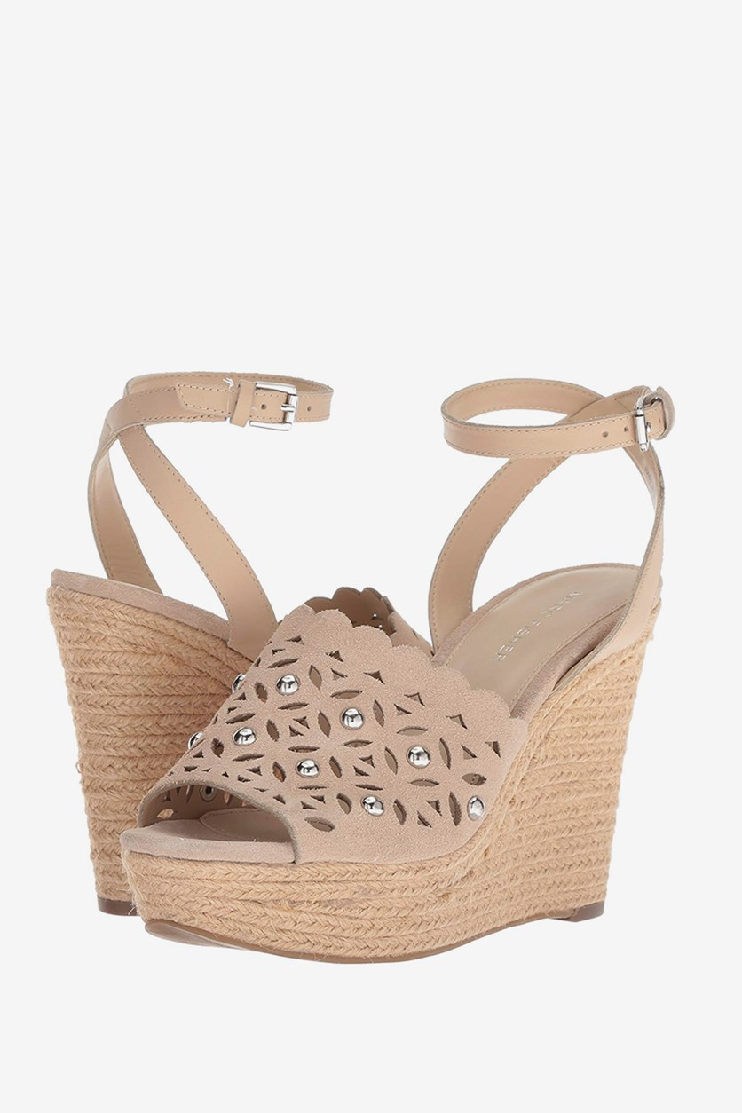 Hata Wedge Sandals, Natural