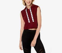Material Girl Juniors' Sleeveless Cropped Vest, Zinfandel