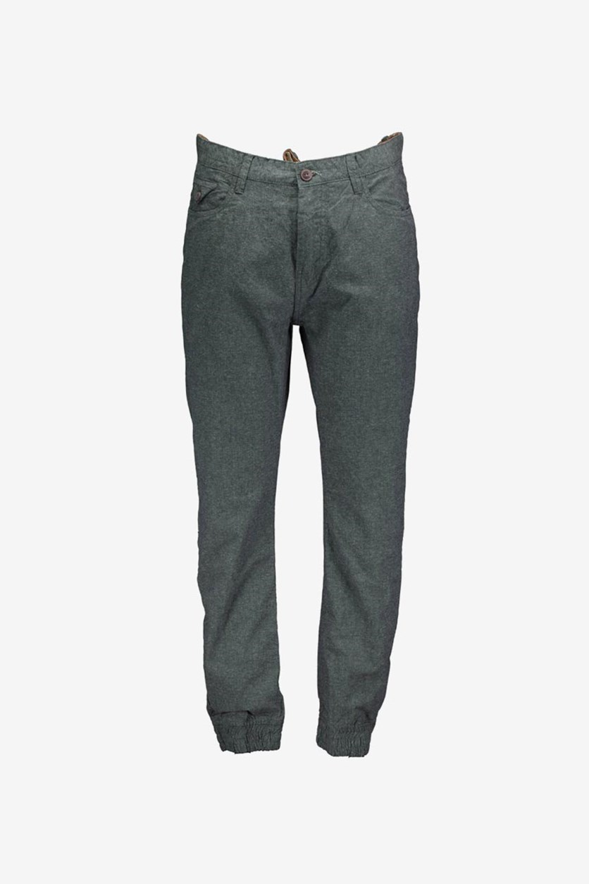 Men's Textured Standard Pants, Charcoal Combo