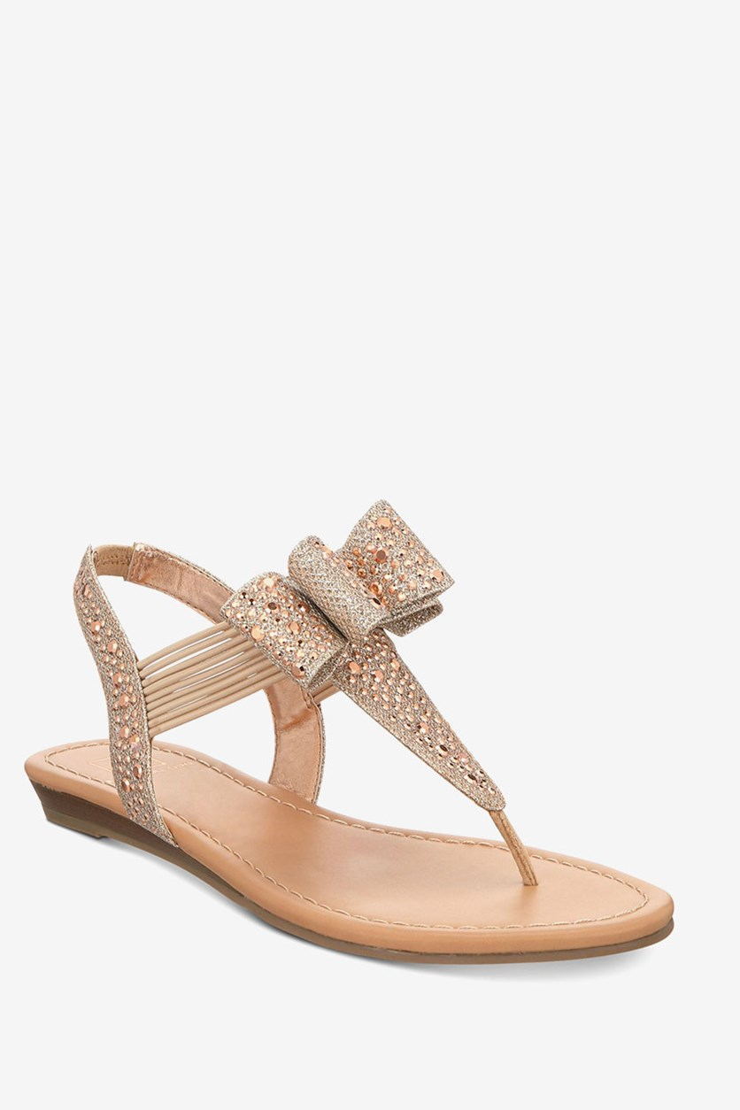 Shayleen Flat Thong Sandals, Rose Gold