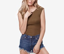 Free People Surplice Back Sleeveless Tank Top, Moss