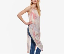 Free People Women's Chiffon Printed Tunic Top, Ivory