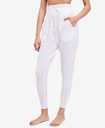 Women Free People Drawstring-Waist Harem Pants, White