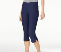 Lee Elena Embellished Capri Pants, Rainstorm