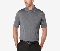 Pga Tour Men's Heathered Golf Polo Shirt, Grey