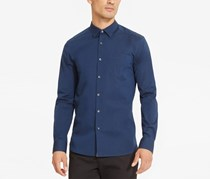 Kenneth Cole Reaction Men's Stretch Shirt, Indigo Combo