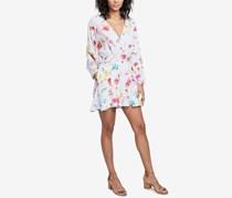 Rachel Roy Ruffled Floral-Print Romper, Morning Blue Combo