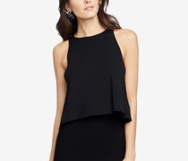 Rachel Roy Split-Back Sweater Tank Top, Black