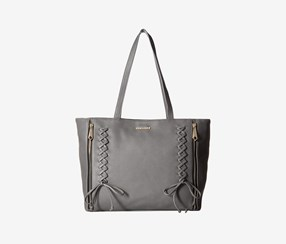 Rampage Women's Corset Laced Tote, Slate