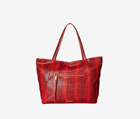 Rampage Wild Snake Tote, Red