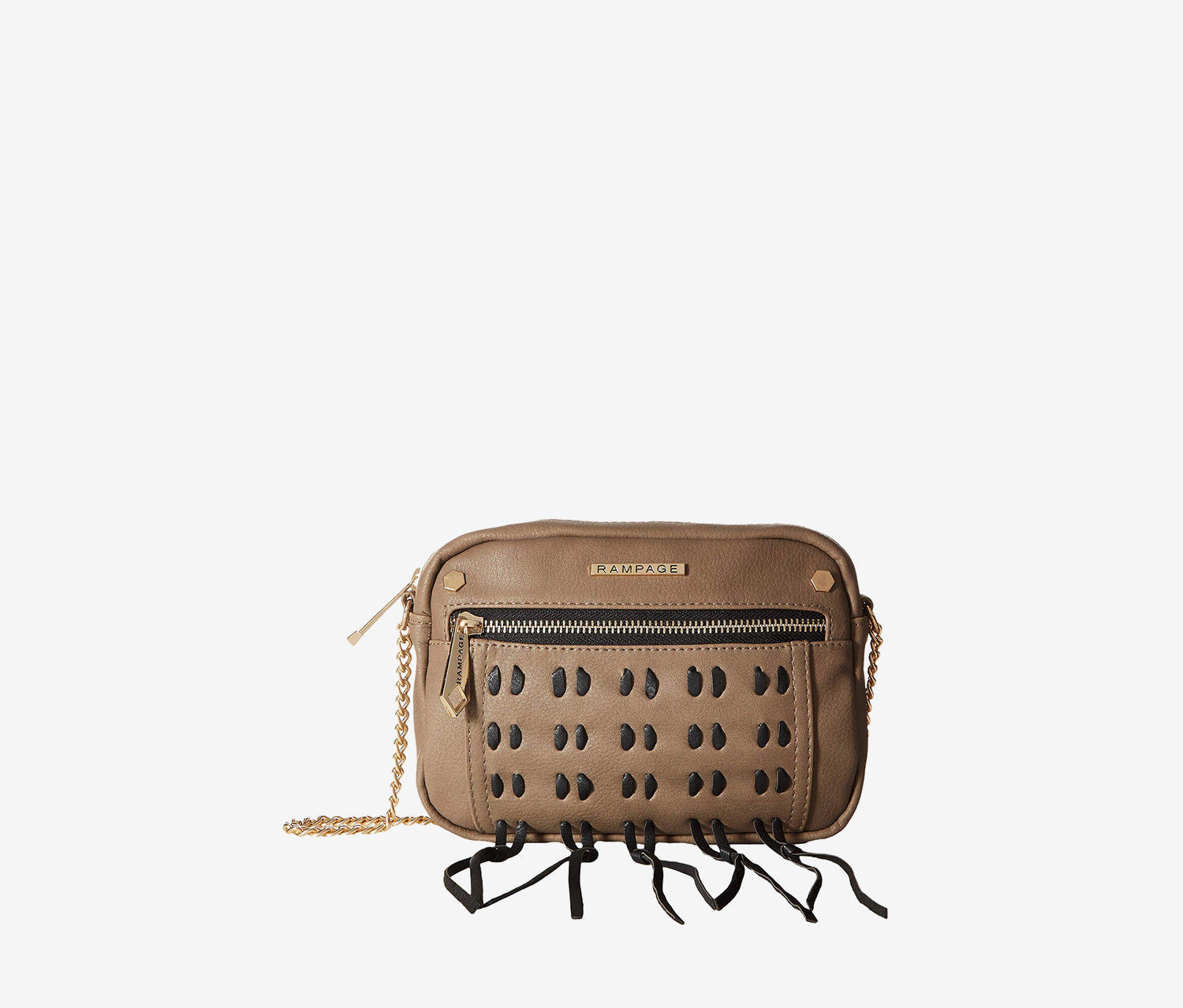 Rampage Whipstitch Cross Body Bag, Taupe