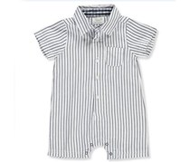Ren Rofe Boy's Rompers, White/Navy