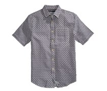 Sean John Men's Short Sleeve Print Shirt, Black/White/Purple
