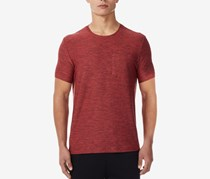 32 Degrees Mens Pocket T-Shirt, Dusty Red