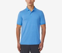 32 Degrees Mens Pro Mesh Polo, Heather Ocean