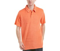 Trunks Surf & Swim Co. Mens David Terry Polo, Salmon