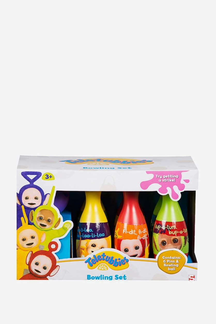 Teletubbies Bowling Set, Yellow/Red/Green