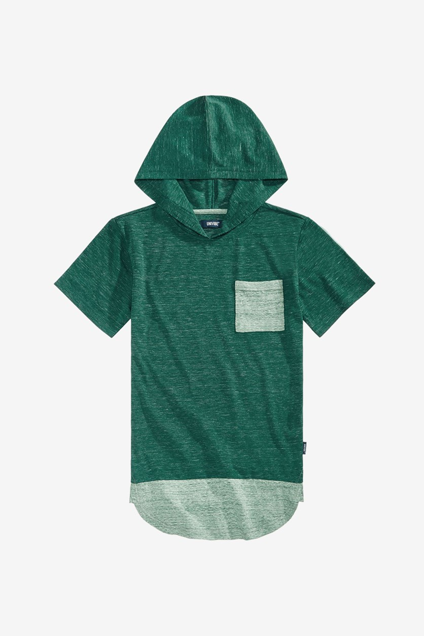 Big Boys Heathered Hooded T-Shirt, Kale/Green