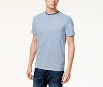 Vince Camuto Men's Slim-Fit Heathered T-Shirt, Blue